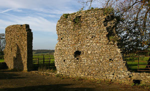 Remains of medieval Winchelsea lost in the fields